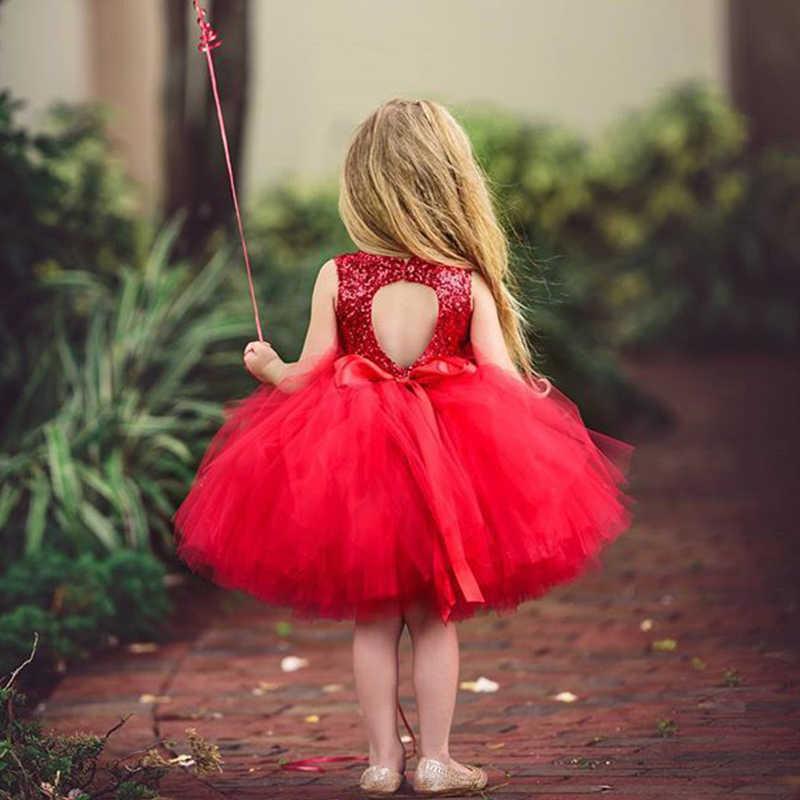 طفل فساتين حفلات للبنات 1 سنة عيد ميلاد توتو فستان طفل فتاة المعمودية الملابس الترتر الأميرة الصغيرة فساتين الطفل Vestido
