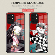 Anime Demon Slayer phone case For Oneplus 9 6 6T 7 7T 8 Pro Nord One plus 8T tempered glass Kamado Tanjirou cover
