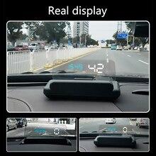 Carro hud display hud cabeça up display carro estilo hd velocímetro excesso de velocidade aviso brisa projetor sistema de alarme universal
