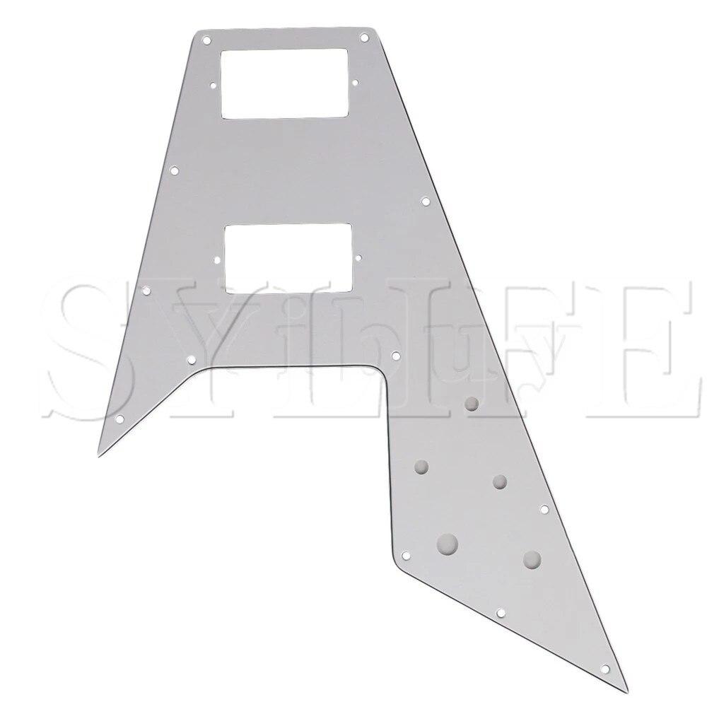 Placa Golpeador blanco para rascar para guitarra eléctrica en forma de V