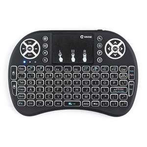 Image 3 - VONTAR i8 키보드 백라이트 영어 러시아어 스페인어 에어 마우스 2.4GHz 무선 키보드 터치 패드 핸드 헬드 TV 박스 H96 max PC