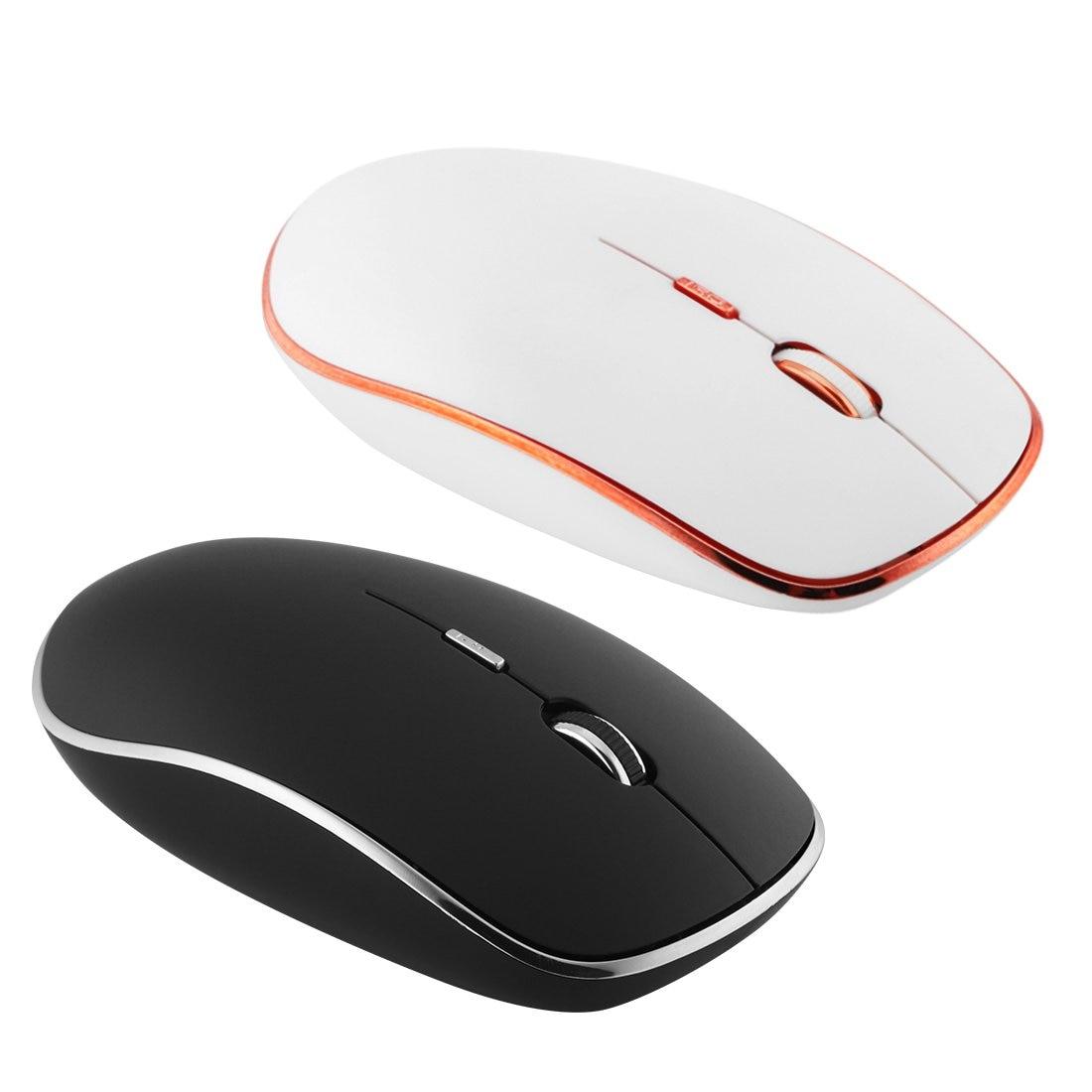 Новая 2,4G беспроводная мышь тонкая Бесшумная компьютерная мышь с приемником 1800 dpi Регулируемая оптическая мышь бесшумный клик для ПК ноутбука|Мыши|   | АлиЭкспресс