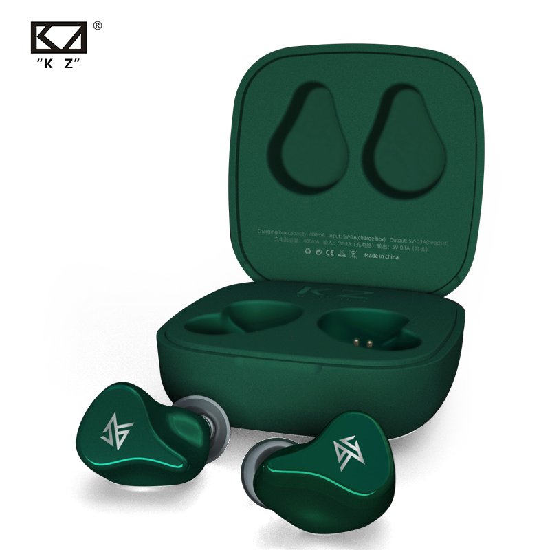KZ Z1 TWS True Wireless Bluetooth v5 0 Earphones Dual magnetic Dynamic Game Earbuds Touch Control Noise Cancelling Sport Headset