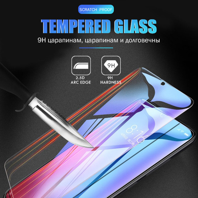 Full Cover Tempered Glass Protective Glass On For Xiaomi Redmi Note 7 8 9s Pro Screen Protector For Note 5 6 7 K20 K30 Pro 7A 8A