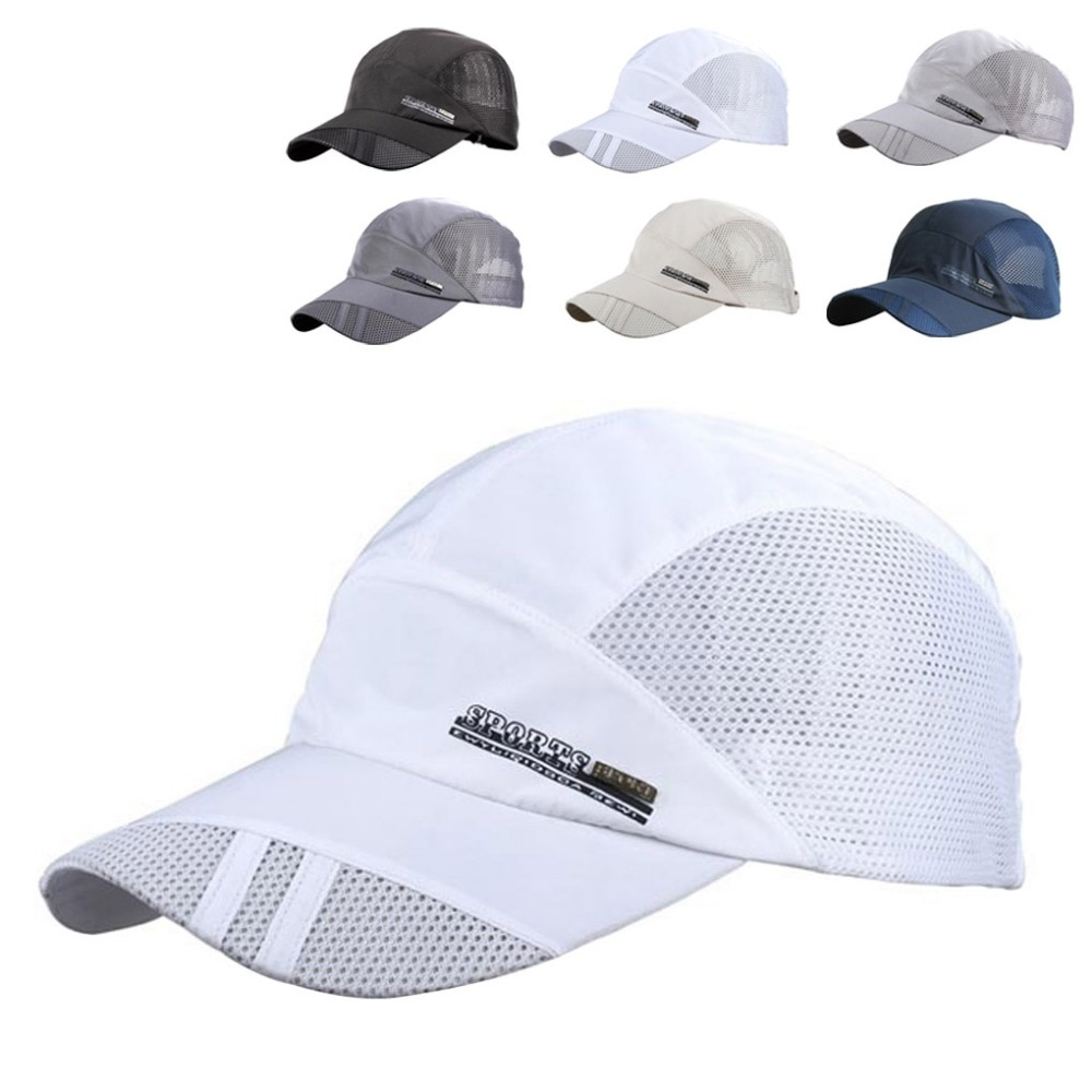 Fashion Mens Summer Outdoor Sport Baseball Hat Running Visor Cap Hot Popular New Cool Quick Dry Mesh Cap 6 Colors