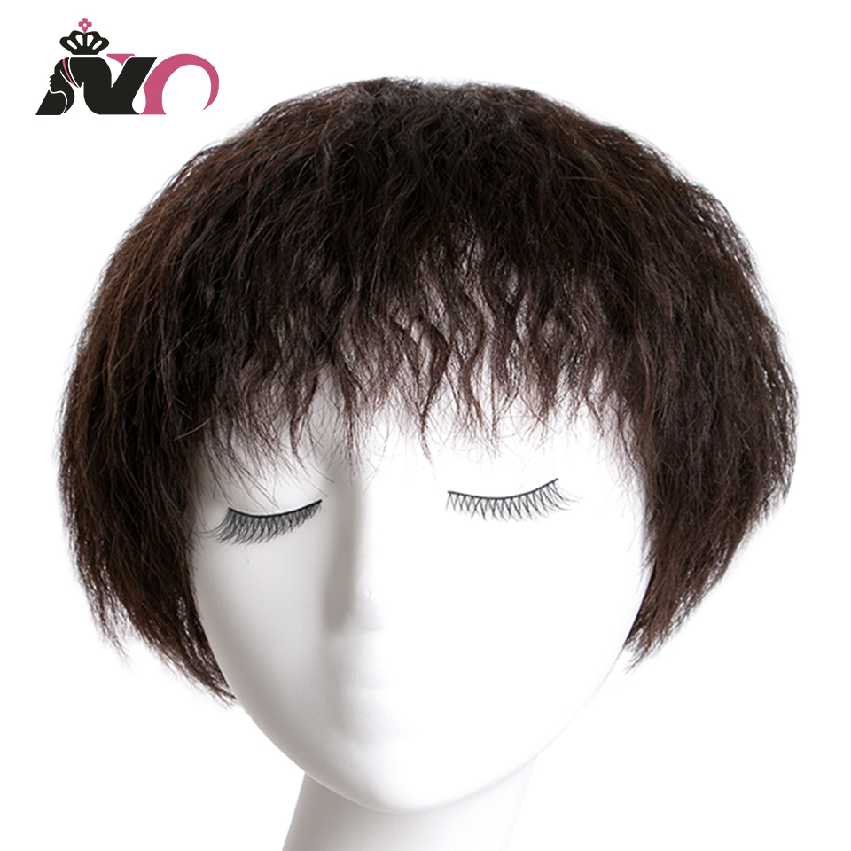 Straight Wigs Brazilian Hair Remy Hair 6 Inch Wig Short Wig Human Hair Wigs For Women Natural Color Full Machine Wigs With Bangs