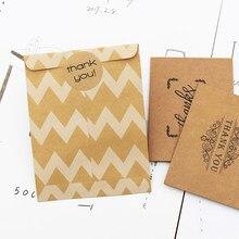 5-50Pcs Kraftpapier Stippen Streep Chevron Papieren Zak Snoep Gunst Wedding Gift Verpakking Tas Met Dank U Sticker Feestartikelen