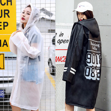 Windbreaker Raincoat Transparent Rainwear Portable Poncho Impermeable Women Men Cover Rain Impermeables Trench Coat Hood 60YY059