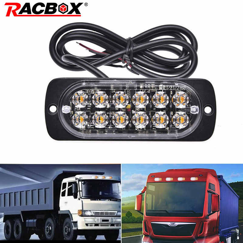 12 LED DRL Strobe Light Police Flashing Warning Led Brake Lamp 12V 24V Car Truck Motorcycle Front Rear Brake Stop Led police
