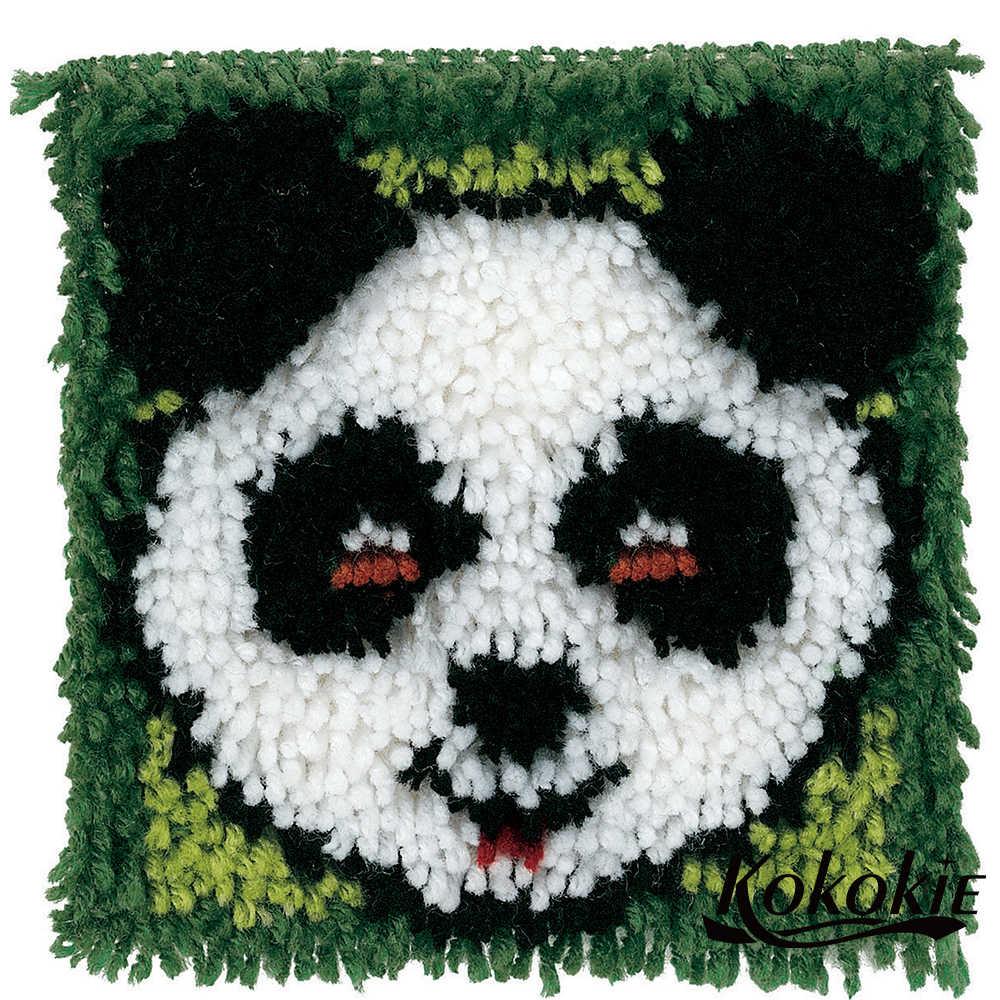 תפס וו שטיח 3d פנדה הדפסת vloerklee Foamiran עבור מלאכות שטיח רקמת ערכת אביזרי בעלי החיים diy tapijt