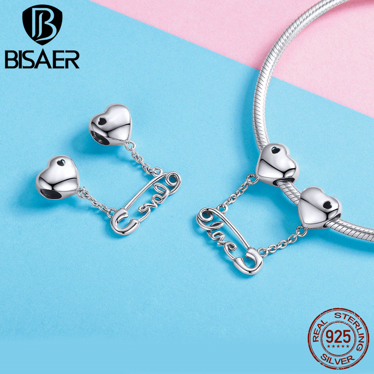 Bisaer Authentic Fantasy 925 Pendant Charms Bead Jewelry For Women Fit Bracelets