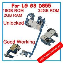 Оригинальная материнская плата для LG G3 D855 32 Гб 16 Гб rom разблокированная материнская плата с чипами Система Android для замены