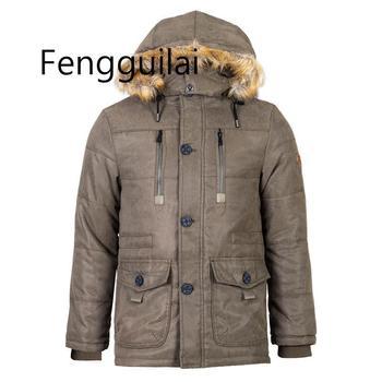 Men Winter Jacket Fleece Thick Warm Parka Hooded Winter Puffer Coat Male Fur Lining Windproof Windbreaker Men Plus Size 5XL 6XL