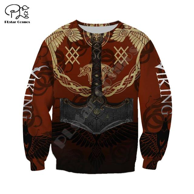 Warrior Tattoo Tracksuit Colorful 3D Print Hoodie/Sweatshirt/Jacket 3