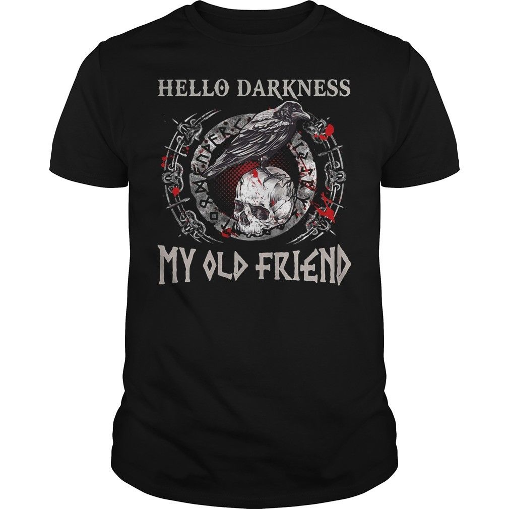 Hello Darkness My Old Friend Vikings Shirt Size S To Cool Casual Pride T Shirt Men Unisex New Fashion Tshirt Loose Size Top Ajax image