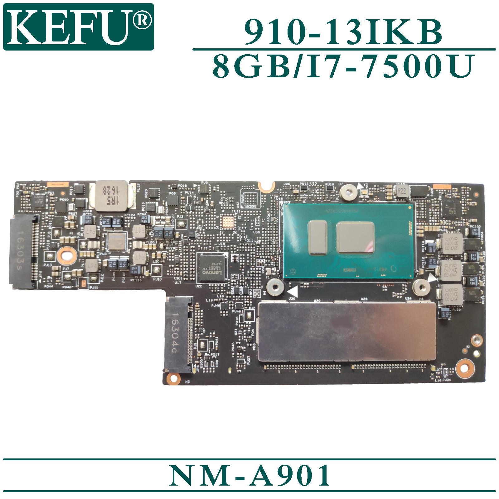 KEFU NM-A901 original mainboard für Lenovo YOGA 5 Pro 910-13IKB mit 8GB-RAM I7-7500U Laptop motherboard