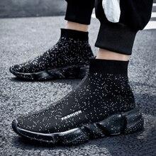 Men Running Shoes кроссовки мужские Women Breathable High Top Ou