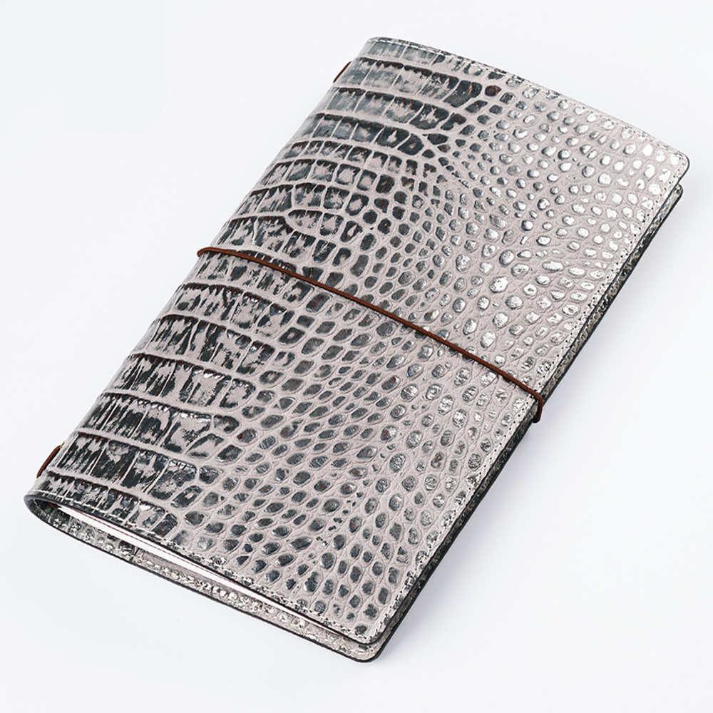 100% натуральная кожа Тетрадь многоразового Путешествия блокнот-органайзер с внутренним карманом для карт из воловьей кожи дневник блокнот ...