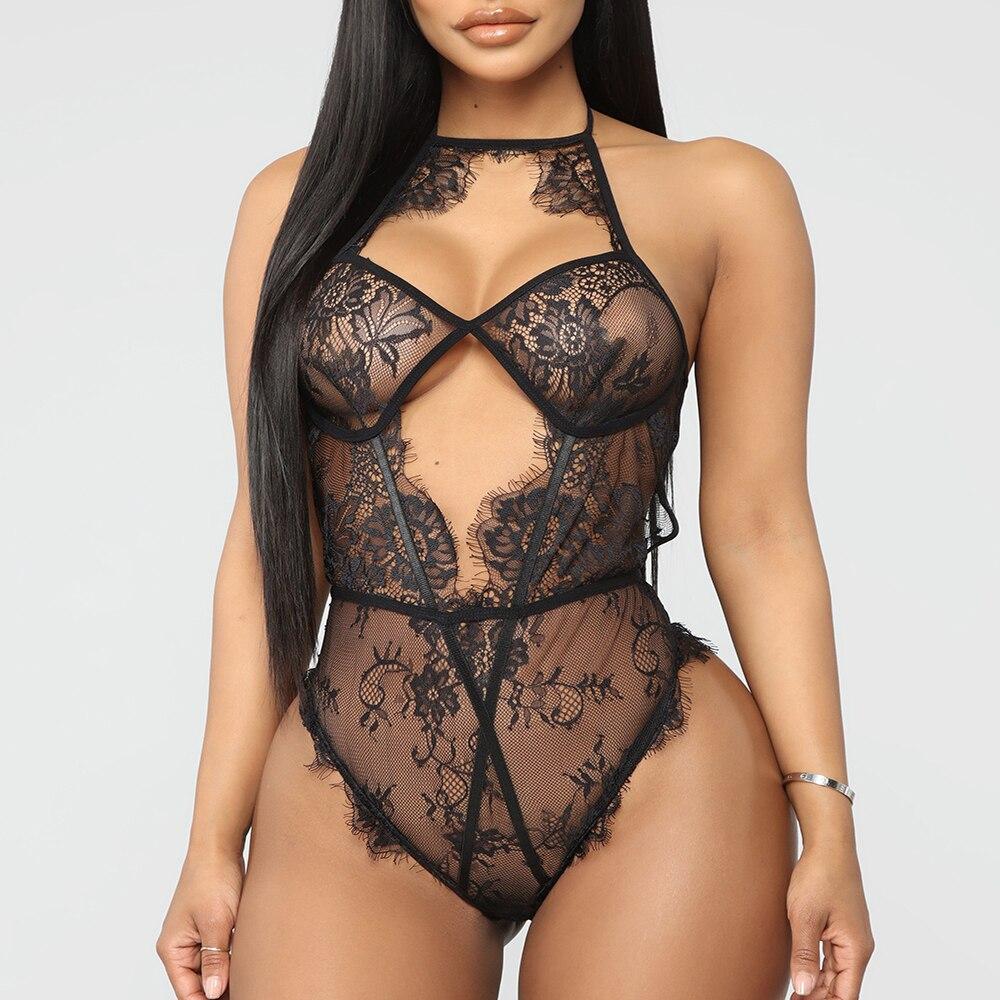 Women's Sexy Lingerie Nightwear Sleepwear Dress Babydoll Lace Jumpsuit Underwear Bikini Cover Beach Suit