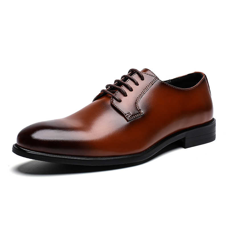 Zapatos de hombre Primavera Verano Formal de cuero genuino zapatos casuales de negocios hombres vestido de oficina zapatos de lujo masculinos transpirables Oxfords