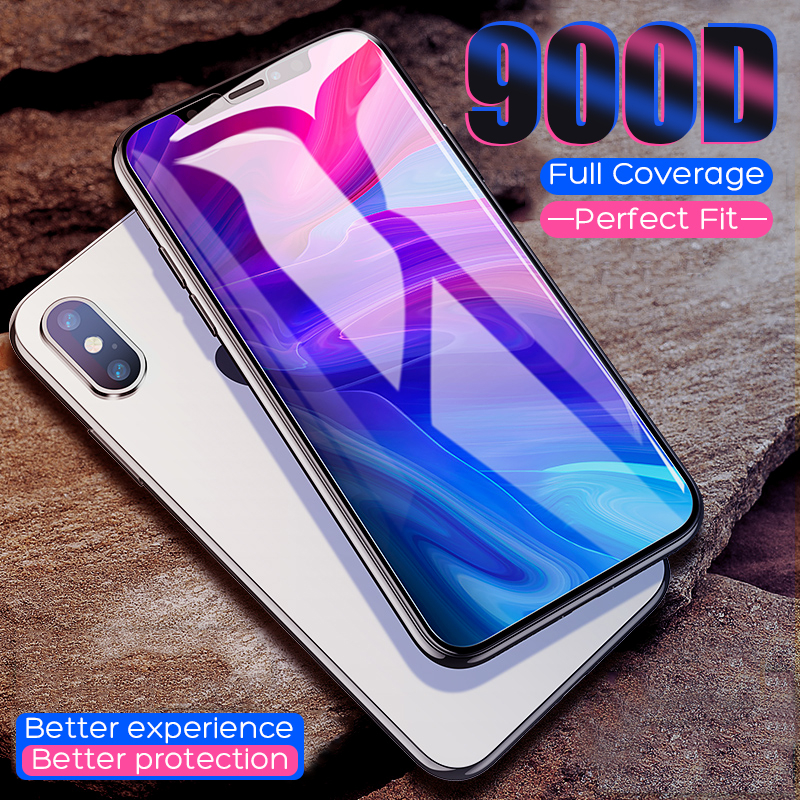 900D Protective Tempered Glass On The For IPhone 11 X XS Max XR Screen Protector Glass For IPhone 7 8 6 6s Plus 11 Pro Max Glass