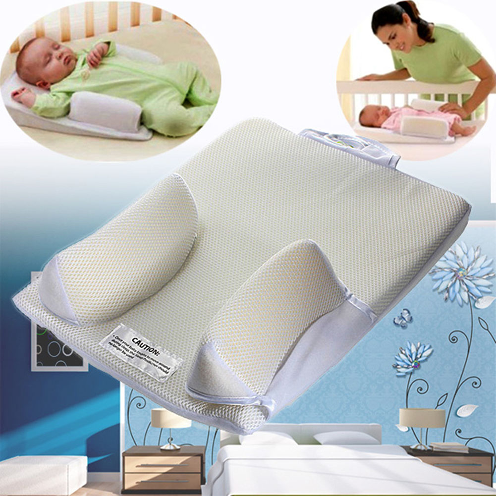 Prevent Flat Head Fixed Positioner Baby Pillow Care Sleeping Sponge Breathable Nursing Anti Roll Support Newborn Soft