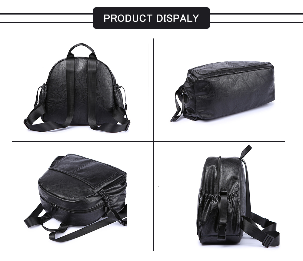 H5d340567b30a45e7a778e4d421531d8e0 Fashion Maternity Nappy Changing Bag for Mother Black Large Capacity Fashion Diaper Bag with 2 Straps Travel Backpack for Baby