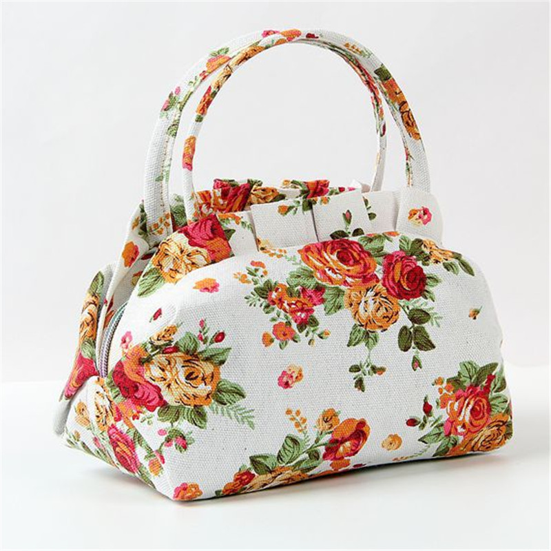 2020  Women's Canvas Casual Handbags Lady Small Bags Women Tote Lunch Bag Wholesale