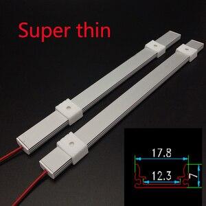 Image 3 - Kitchen Light expert DC12V 5050 LED Hard Rigid  Strip Bar +U aluminium+flat cover kitchen strip light 5pcs milky 50 cm