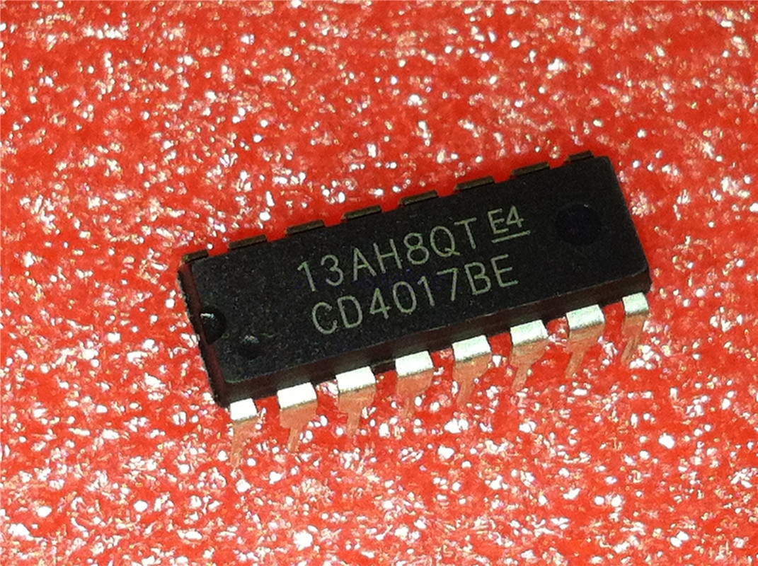 1pcs/lot CD4017BE HEF4017 4017 DIP-14 In Stock