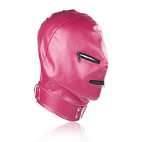 Bondage Restraints Hood Cosplay Mask Exotic Accessories Leather Hood Mask Sex Toys for Couples Adult Games Night Clubwear