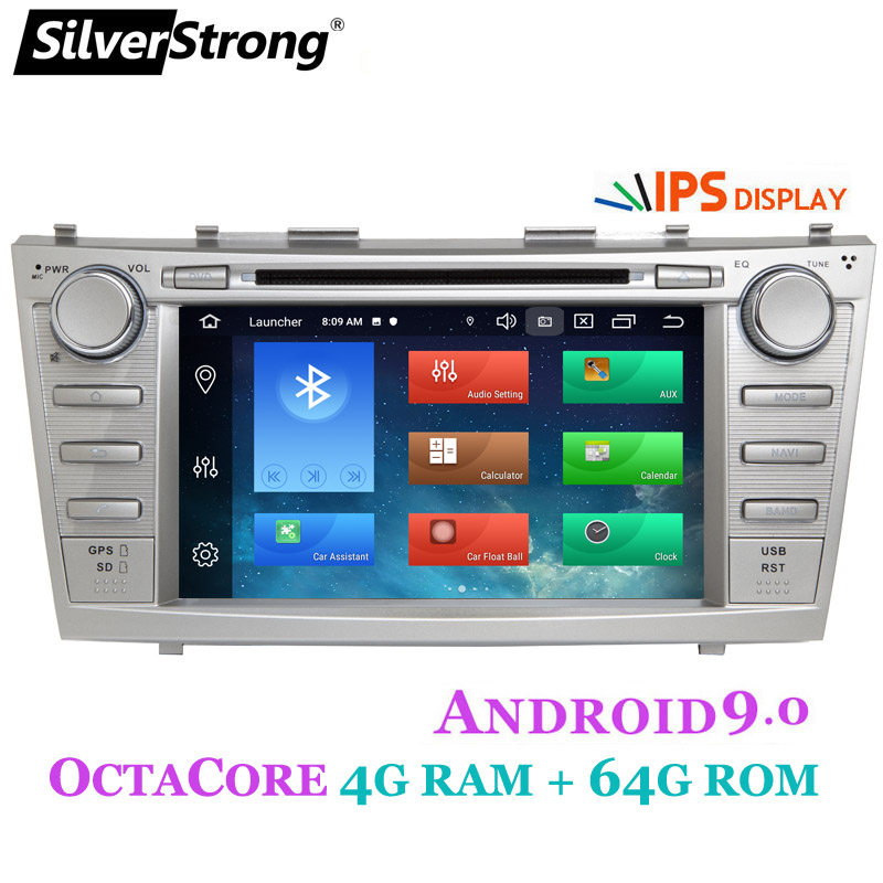 SilverStrong 2din Android9.0 4GB 64GB Car DVD for TOYOTA CAMRY Aurion CAR DVD CAMRY v40 GPS CAR RADIO DVD Navigation