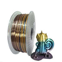 Material de impressão rico de seda do brilho do filamento 1.75mm 1kg da impressora do arco-íris 3d do pla deslize como o material multicolorido da cópia de ramdon