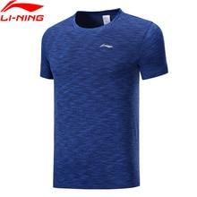 Li Ning Men Running Series Short Sleeve T shirts Regular Fit Nylon Polyester LiNing li ning Sports Mesh Tees ATSP125 MTS3064