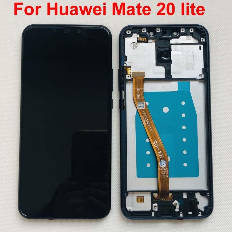 Image 2 - Оригинальное новое поступление 2018 6,3 дюйма для Huawei Mate 20  lite mate 20 lite ЖК дисплей дигитайзер сенсорный экран Запчасти для  сборки лучшее качествоЖК-экраны мобильных телефонов   -