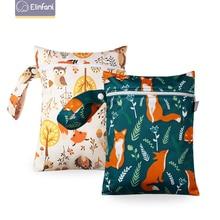 Elinfant Wet Dry Bag Mini Baby Diaper Bag Nappy Bag 18*25cm Waterproof Reusable Washable Diaper Bag