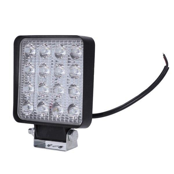 2 個 48 ワット 6000 18k LED スポットビーム正方形作業灯ランプトラクター SUV トラック 4WD 12V 24V