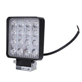 2 uds. 48W 6000k luces de trabajo cuadradas de haz LED para Tractor SUV camión 4WD 12V 24V