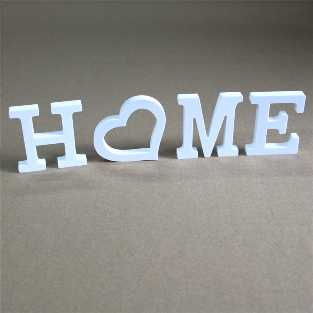 Diy Freestanding Wood Wooden Letters White Alphabet Wedding Birthday Party Home Decorations Thick 12mm HOME & Personalised Name