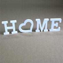 Letras de madera para decoración del hogar, alfabeto blanco para fiesta de cumpleaños, boda, grueso, 12mm, nombre personalizado, bricolaje