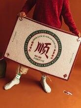 Guochao коврик для двери с текстом домашний удаления пыли и
