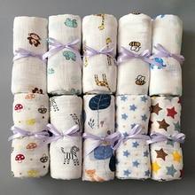 1 шт., муслин, хлопок, детские пеленки, мягкие одеяла для новорожденных, для ванной, марля, Детская накидка, спальный мешок, чехол для коляски, игровой коврик