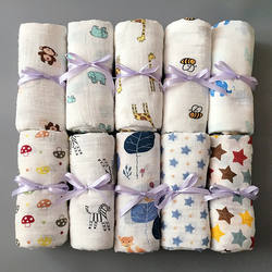 1 шт Муслин 100% хлопок Детские пеленает мягкие одеяла для новорожденных банное марли младенческой спальные принадлежности чехол для