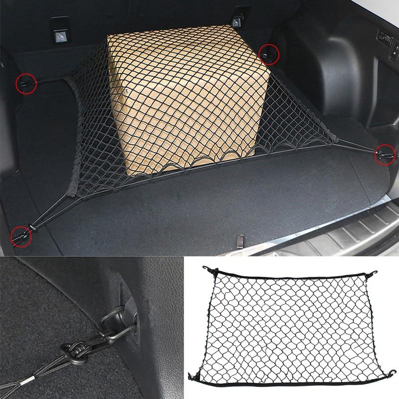 110x50 см Автомобильный багажник задний багаж для хранения багажа нейлоновый эластичный сетчатый держатель с 4 пластиковыми крючками карман для автомобиля фургон пикап внедорожник MPV - Название цвета: 70x70cm