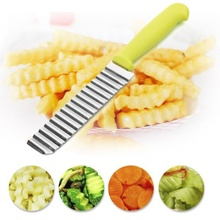 лучшая цена French stainless steel wave cutter Professional potato knife French fries cutlery Fruit corrugated knife spot
