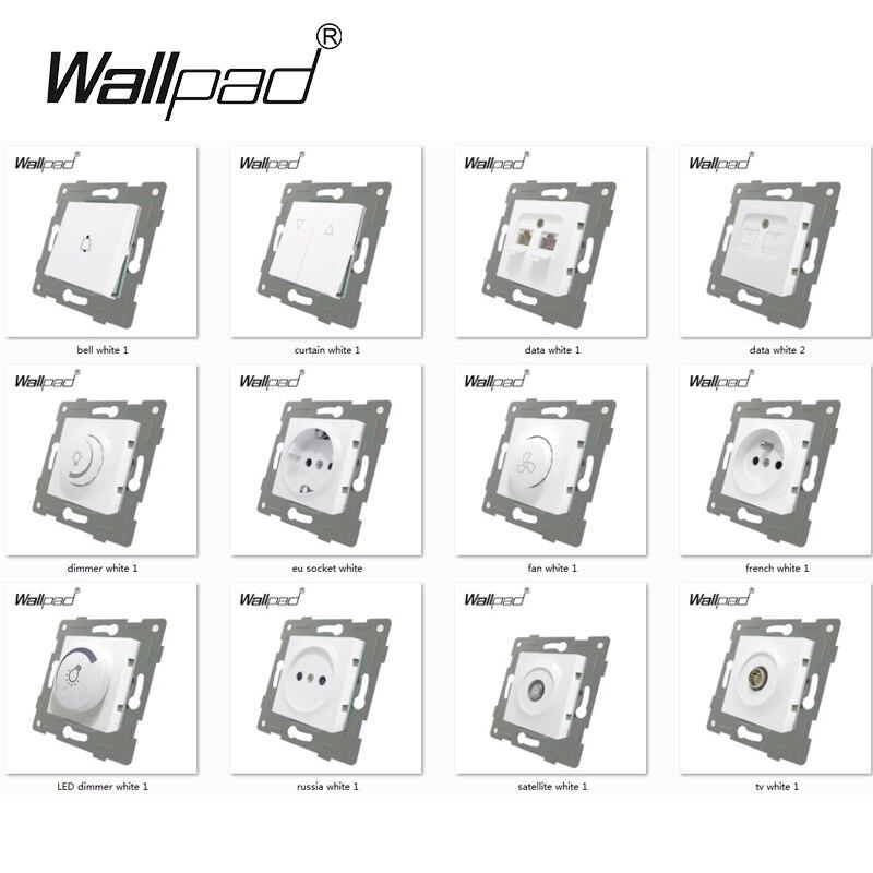 lowest price Bingoelec EU Standard Double Power Socket Germany Type 16A Wall Socket White Crystal Toughened Glass Panel 86 157mm 220V AC