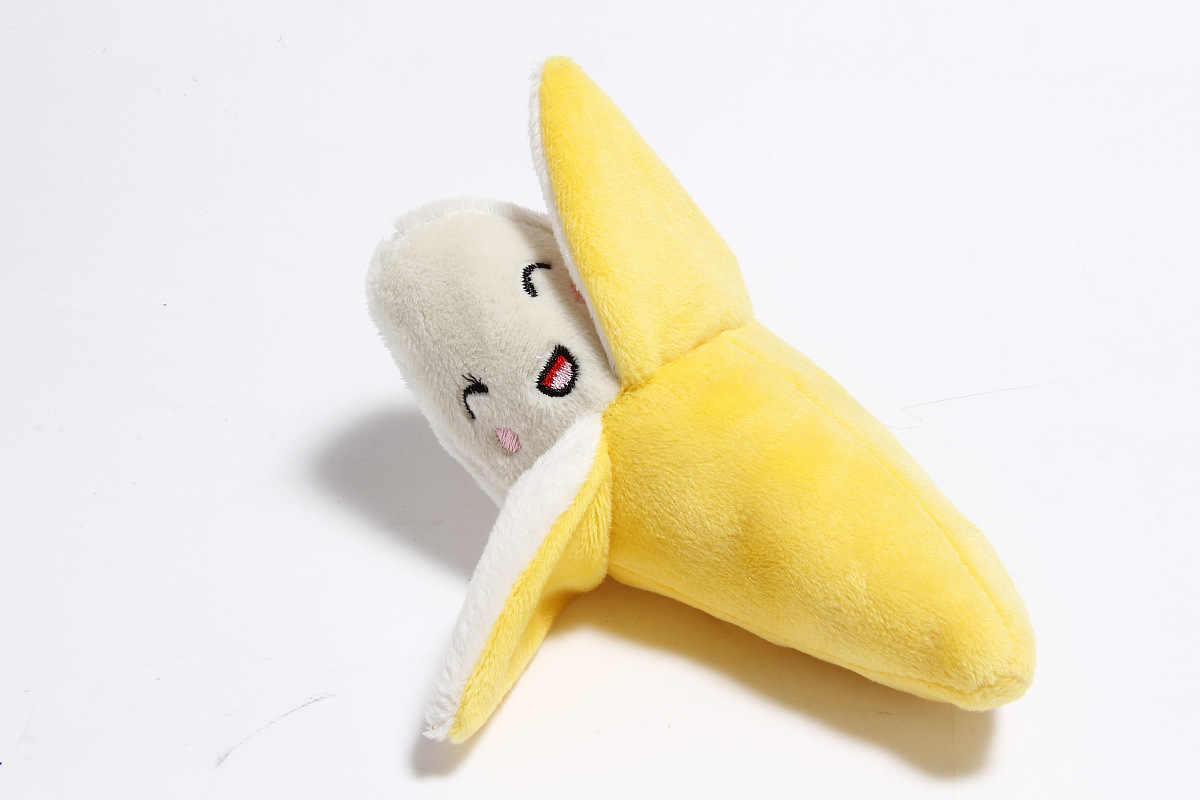 1pc Peluche Squeaky Osso di Cane Giocattoli Animali Del Fumetto di Formazione Puppy Toy Morbido Banana Carota E Verdura Forniture Per Animali Da Compagnia
