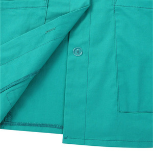 Image 5 - Womens Healthcare Tunic Turn down Collar Short Sleeves Button Down Cares Therapist Dentist Workwear Uniform Tops