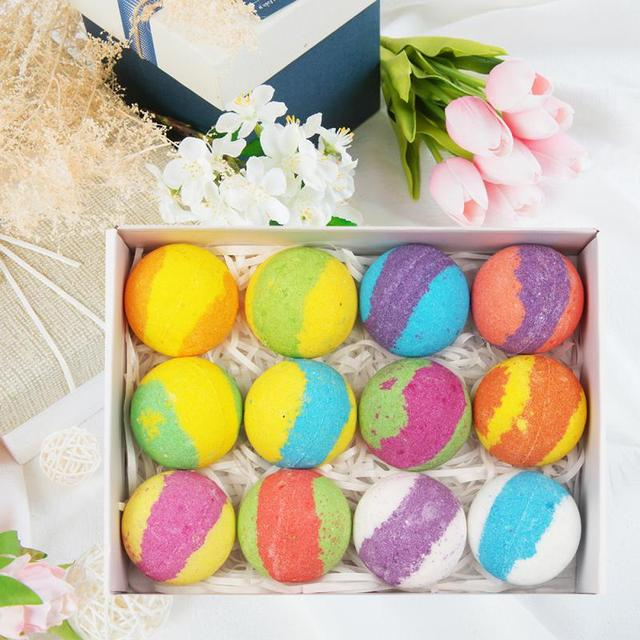 12pcs 940g Bath Salt Ball Handmade Soap Natural Organic Bubble Bomb Salt Ball Moisturizing Essential Oil Bubble Bath 1