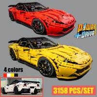 New RC Motor Ferrari F12 Berlinetta hypercar Super Racing Car Fit Lepinings Technic moc 41271 Model Building Blocks Toy DIY gift
